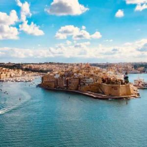View from Valetta to the 3 cities